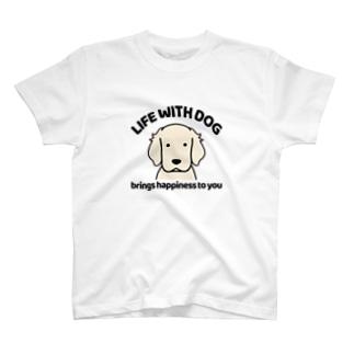 犬と共に(白ゴル) T-shirts