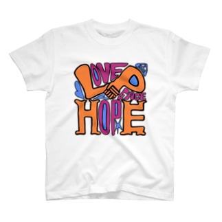 (Love+Peace)×Hope T-shirts