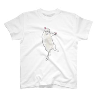 まっしろなデブねこ T-shirts