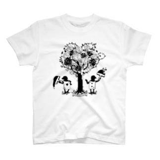 アリス★シルエット-バラとトランプ兵 T-shirts