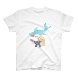 シャークネードなおんなのこ T-shirts