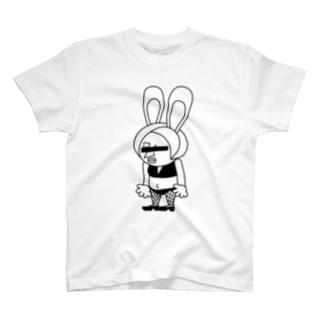 おっちょこバニー(目隠し) T-shirts