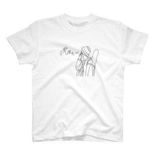 喫煙女子Tシャツ(ベイ佐藤ver) T-shirts