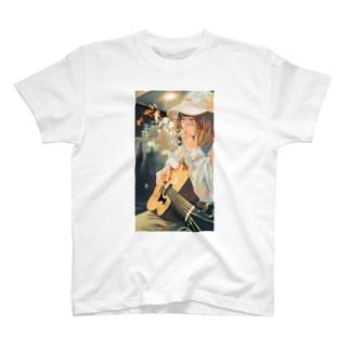 喫煙女子Tシャツ(尾崎リノイラストver) T-shirts