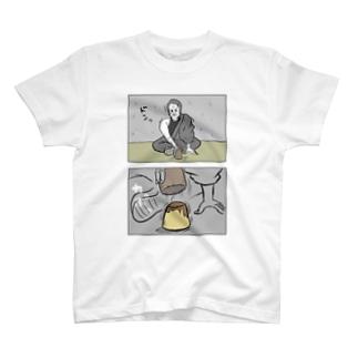 賭博場でプリンを振る舞う男 T-shirts