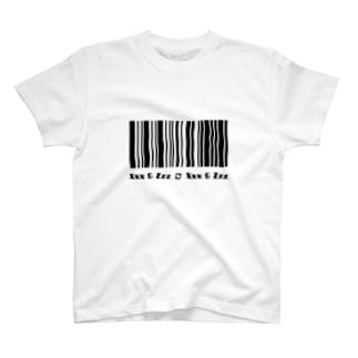 a fictional barcode T-shirts