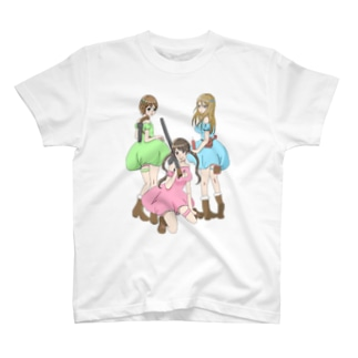 守り隊(カラーVer) T-shirts
