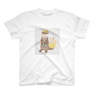 サウナ好きのカワウソ(リアル) T-shirts