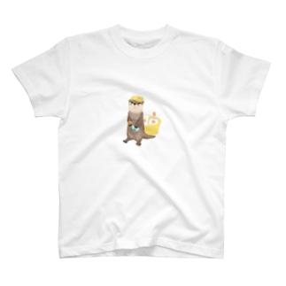 サウナ好きのカワウソ(ドット絵風) T-shirts