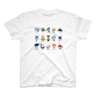 ふしぎないきものズ T-shirts