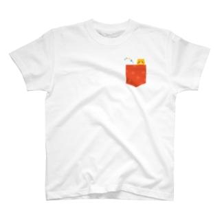 Illustrator イシグロフミカのPocket * くま T-shirts