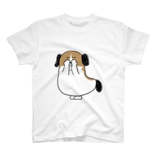 もじゃまる目隠し T-shirts