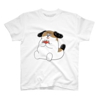 もじゃまるとカニ T-shirts