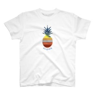パイナップル Sunset ALOHA 154 T-shirts