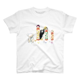 マールとショーイ こけしちゃん T-shirts