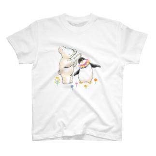 マールとショーイ 花飾り T-shirts
