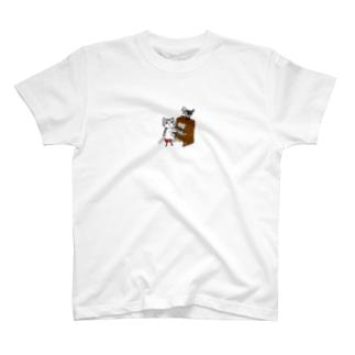 ネコピアノwithヨゲンノトリ T-shirts