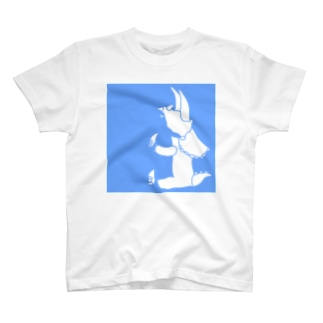 ぺぇねもんショップのトリケラトプス シルエット T-shirts