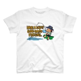 ウトウトアングラー_カラフル T-shirts