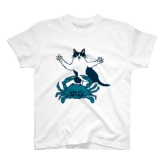 猫とカニ T-shirts