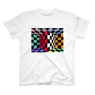 一昔前のカラオケの画面にありそうなやつ T-shirts
