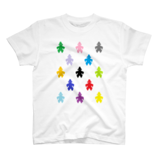 decoppaの土偶カラフル模様 T-shirts