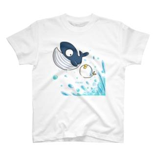 くじらさんとざっばーん! T-shirts
