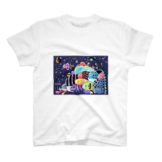 色音色のTシャツ屋さん ironeiro T-shirt shopのおさかなパラダイス T-shirts