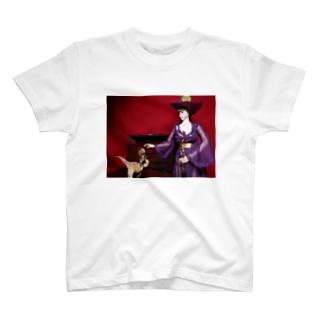 ドール写真:美少女魔法使いとヴェロキラプトル Doll picture: Pretty witch & Velociraptor T-shirts