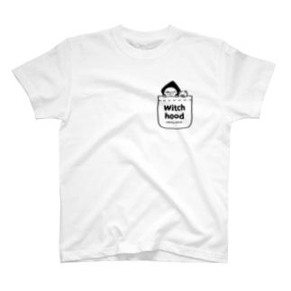 Witch hood (ポケット風) T-shirts