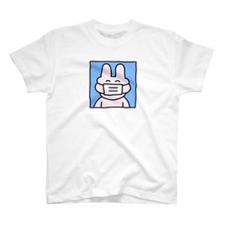 マスクうさぎ T-shirts
