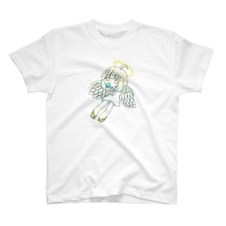 朝寝坊の天使(アイス) T-shirts