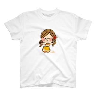 アグリム@かわ主婦スタンプ制作中のかわいい主婦の1日フラガール2 T-shirts