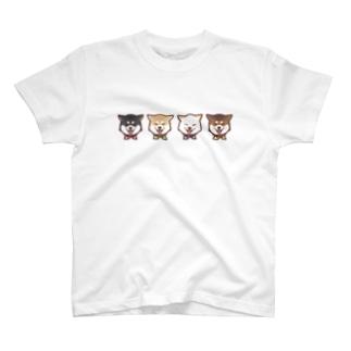 スマイル柴犬(ライン) T-shirts