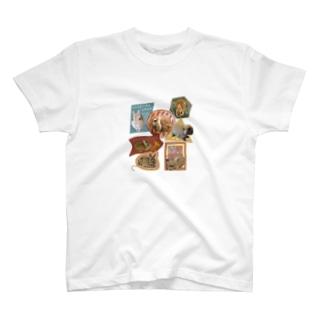うさステッカー風(小) T-shirts