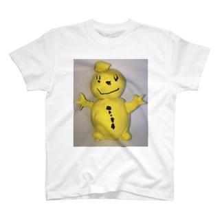 幸せの黄色い雪だるま T-shirts