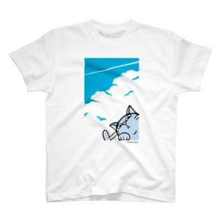 ヒコーキ雲 T-shirts