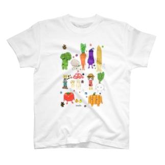 ボタニカルフレンズ color ver. T-shirts