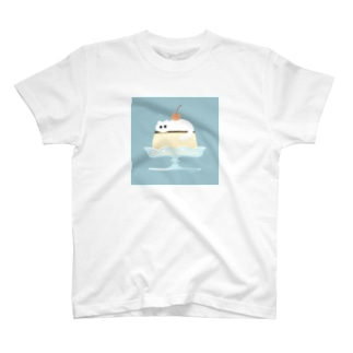 プリンの上のねこ T-shirts