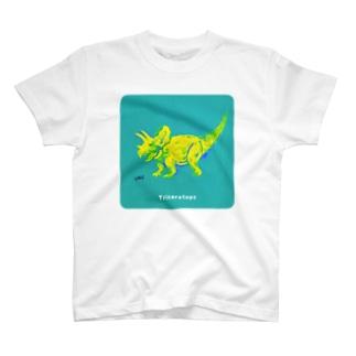 おしゃれなトリケラトプス T-shirts