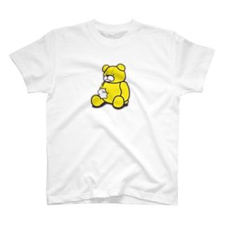 ぬいぐるみとぷりぷりうちゅうじん(くま) T-shirts