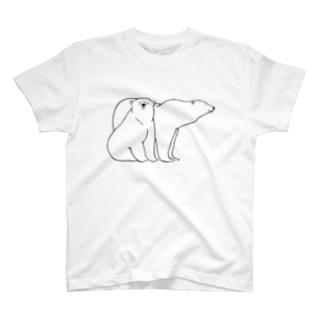 minachape STOREのシロクマたち T-shirts