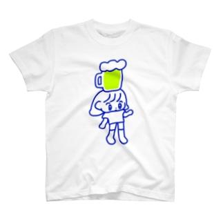頭のせビール T-shirts