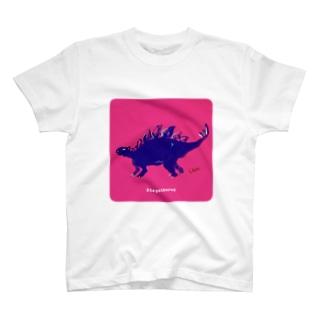 ゆる〜いステゴサウルス T-shirts