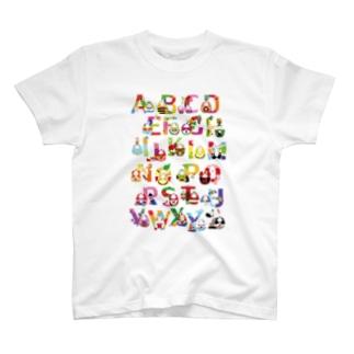 *NAGI*のアルファベットウサギノタマゴ T-shirts