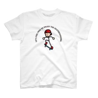 """String skater """"Ollie"""" Tシャツ"""