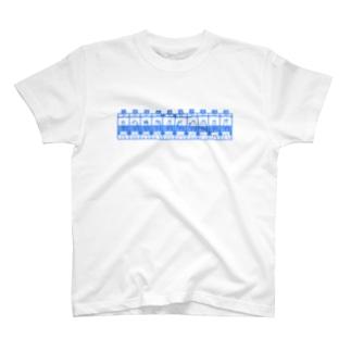 ばんえいフルゲート・とかちブルー T-shirts