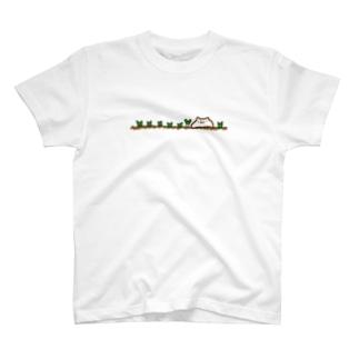 ねぎ畑(前面のみ) T-shirts