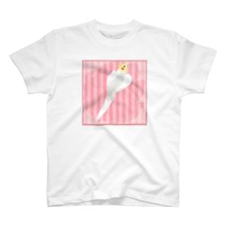 オカメインコ ハートルチノーオカメインコ【まめるりはことり】 T-shirts