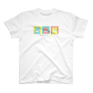 3色うさちゃんTシャツ T-shirts